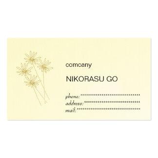 flower ビジネスカードテンプレート