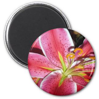 Flower 002 2 inch round magnet