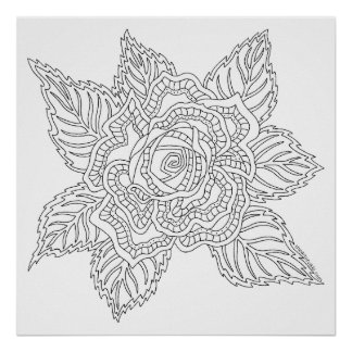 Flower 020617 Adult Coloring Rose Color This Fun Poster