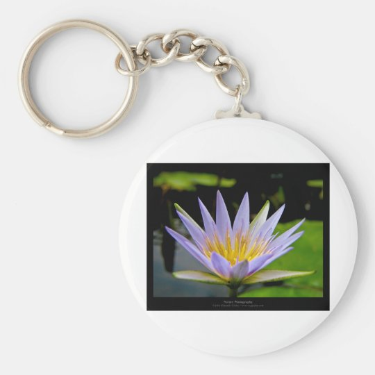 Flower 026 Blue Water Lily Keychain