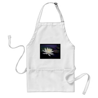 Flower 039 White Water Lily Adult Apron