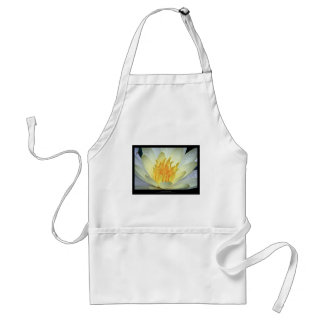 Flower 061 White Water Lily Adult Apron