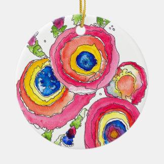 Flower 1 ceramic ornament