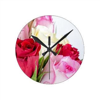 flower-316621 flower flowers rose love red pink ro round wallclock