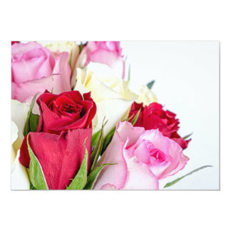 flower-316621 flower flowers rose love red pink ro 5x7 paper invitation card