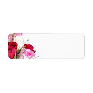 flower-316621 flower flowers rose love red pink ro custom return address labels
