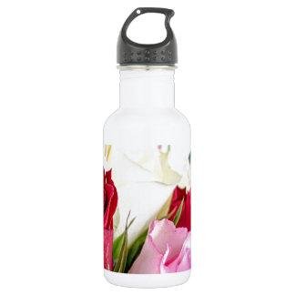 flower-316621 flower flowers rose love red pink ro 18oz water bottle