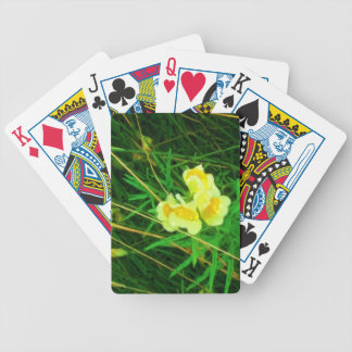 Flower 3 bicycle playing cards