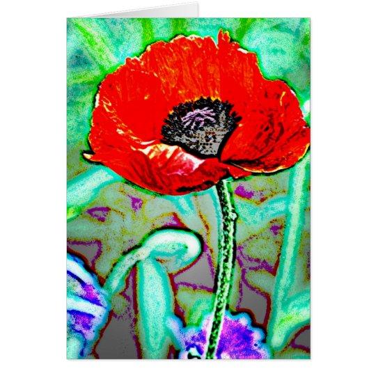 Flower 3 card