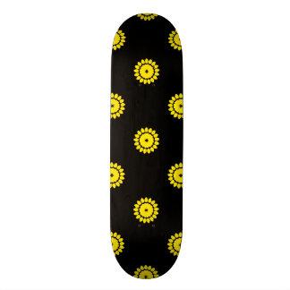 Flower 4 Pattern Yellow Skate Board Deck