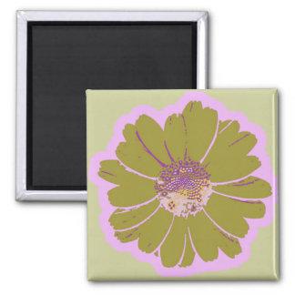 Flower #603 Logo 2 Inch Square Magnet