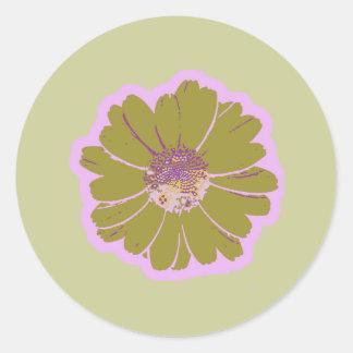 Flower #603 Logo Classic Round Sticker