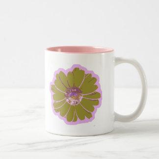 Flower #603 Logo Two-Tone Coffee Mug