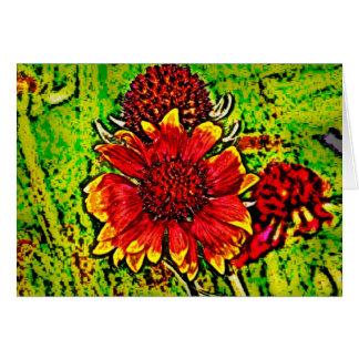 Flower 7 greeting card