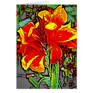 Flower 8 greeting card