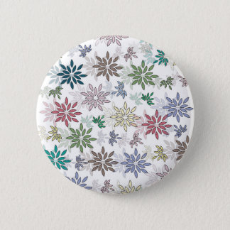Flower 8 pinback button