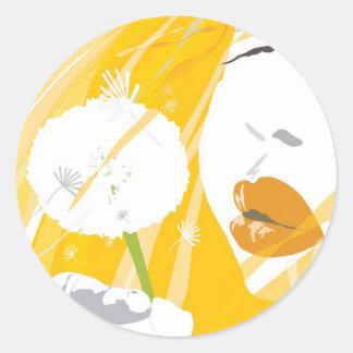 flower_A4 Classic Round Sticker