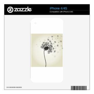 Flower a dandelion iPhone 4 skins