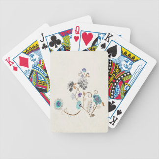 Flower Abstract Bicycle Playing Cards