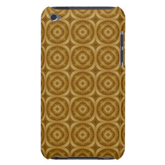 flower abstract circle wood pattern barely there iPod case