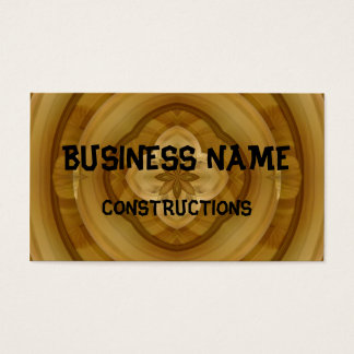flower abstract circle wood pattern business card