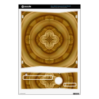 flower abstract circle wood pattern decals for the xbox 360 s