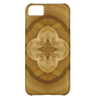 flower abstract circle wood pattern iPhone 5C cover