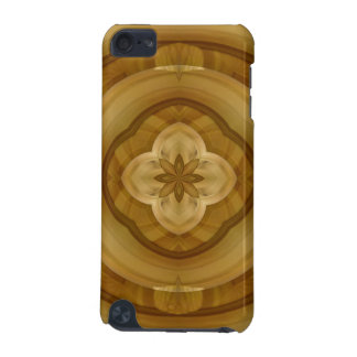 flower abstract circle wood pattern iPod touch (5th generation) case