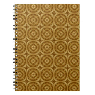 flower abstract circle wood pattern spiral note books