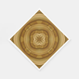flower abstract circle wood pattern paper napkin