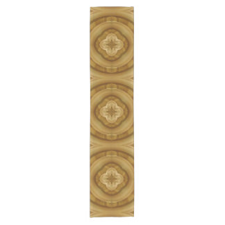 flower abstract circle wood pattern short table runner