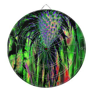 Flower Abstract Dartboard