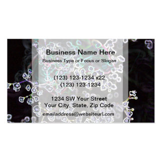 flower abstract glowing edges dark cool design Double-Sided standard business cards (Pack of 100)