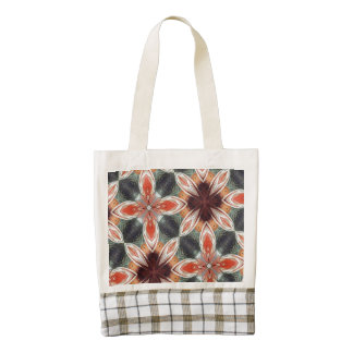 Flower abstract pattern zazzle HEART tote bag