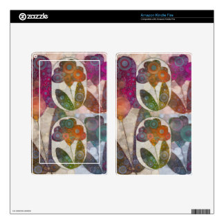 Flower Abstract Kindle Fire Decal