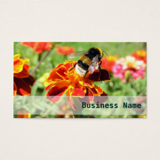Flower Addict - Bumble-Bee Elegant Business Card