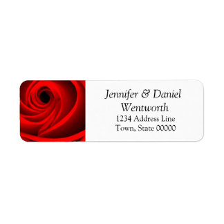Flower Address Labels Red Rose