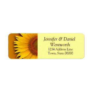 Flower Address Labels Sunflower