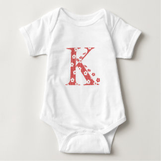 flower alphabet K (red and dots) Tshirts