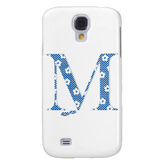 flower alphabet M (blue and dots) Galaxy S4 Cases