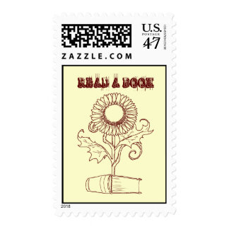 Flower and a book postage