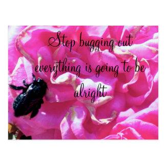 Flower and a Bug_ Postcard