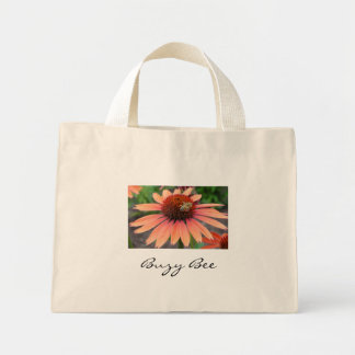 flower and bee, Buzy Bee Tote Bags