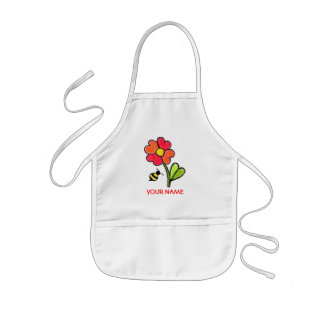Flower and Bee Paint Smock! Kids' Apron