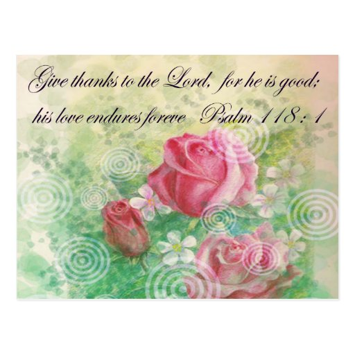 """Flower and Bible verse """"Rose"""" Post Card"""