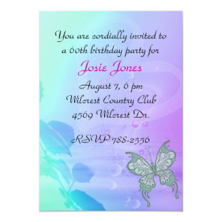 Flower and Butterfly Birthday Invitation
