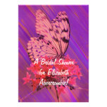 Flower and Butterfly Bridal Shower Invitations