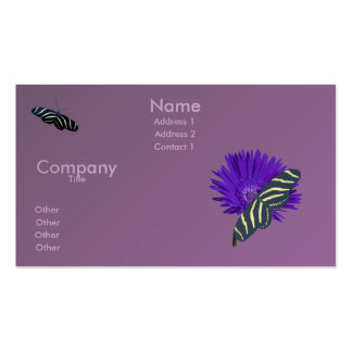 Flower, and Butterfly Business Card