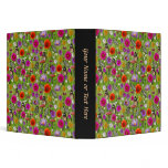 Flower and Butterfly Collage Pattern 3 Ring Binders