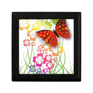Flower and Butterfly Jewelry Box